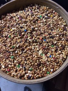 Trail mix is one of the most common and effective bear baits used by bear hunters. It's beneficial to the bears and the small amounts of M&Ms and chocolate chips are not enough to harm wildlife. An overreaction by state game departments to ban this would be a big mistake.